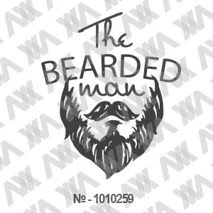 Наклейка на авто The Bearded man. Boroda